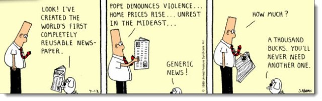 Dilbert Generic Newspaper